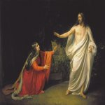 Ivanov Alexander Andreevich (1806 - 1858)  The Appearance of Christ to Mary Magdalene  Oil on canvas, 1834  242 x 321 cm  The Russian Museum, St. Petersburg, Russia